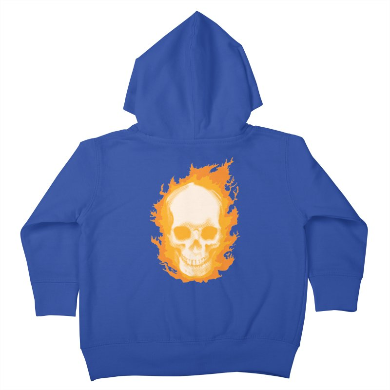 Ghost Skull Kids Toddler Zip-Up Hoody by carlhuber's Artist Shop