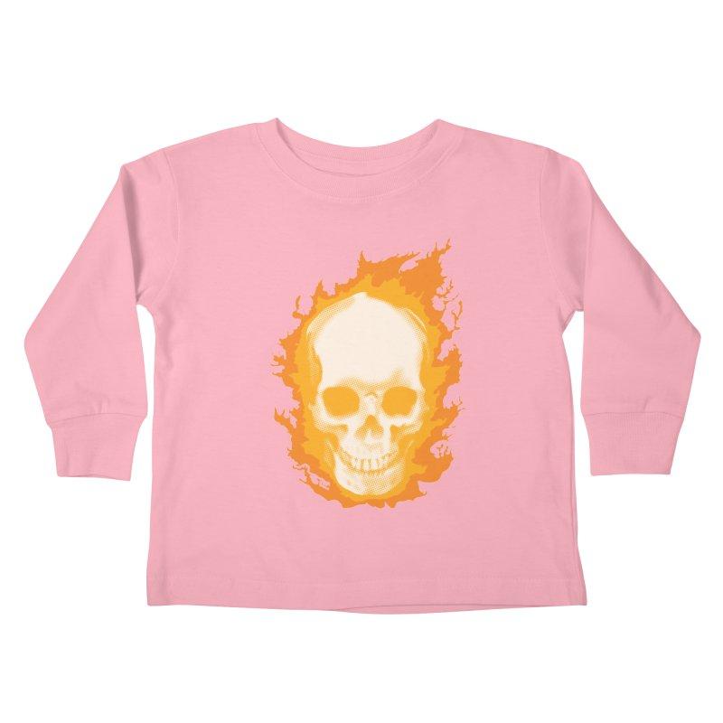 Ghost Skull Kids Toddler Longsleeve T-Shirt by Carl Huber's Artist Shop