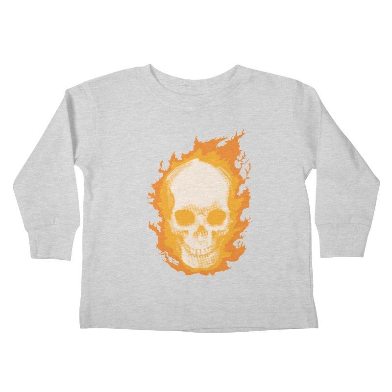 Ghost Skull Kids Toddler Longsleeve T-Shirt by carlhuber's Artist Shop