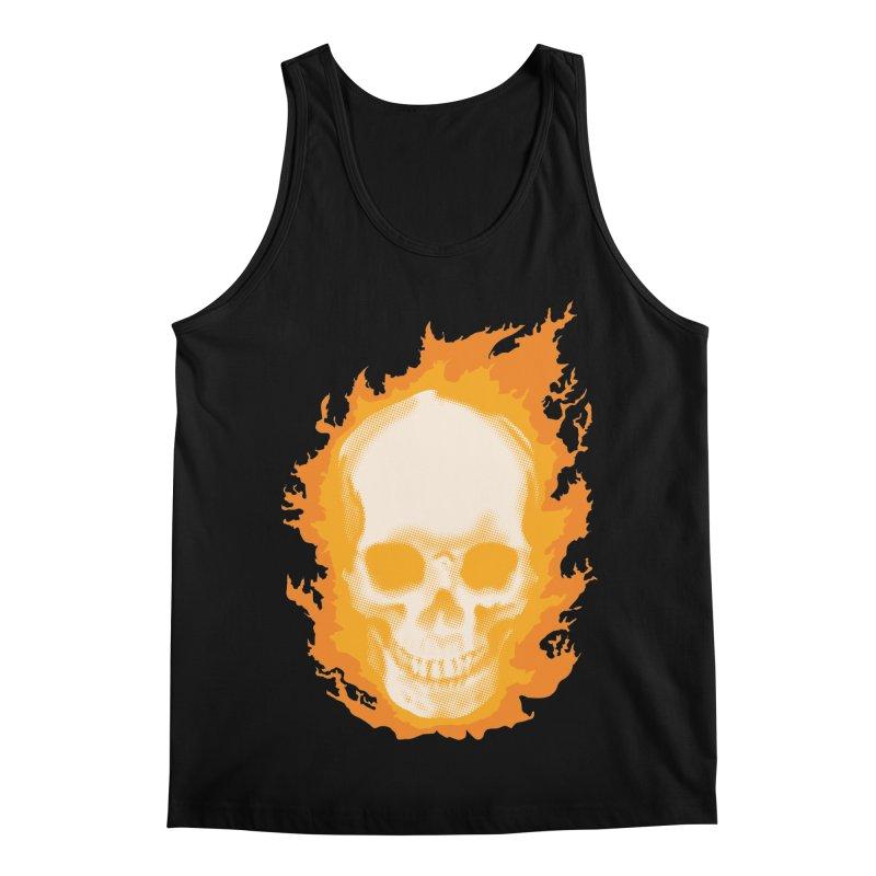 Ghost Skull in Men's Regular Tank Black by Carl Huber's Artist Shop