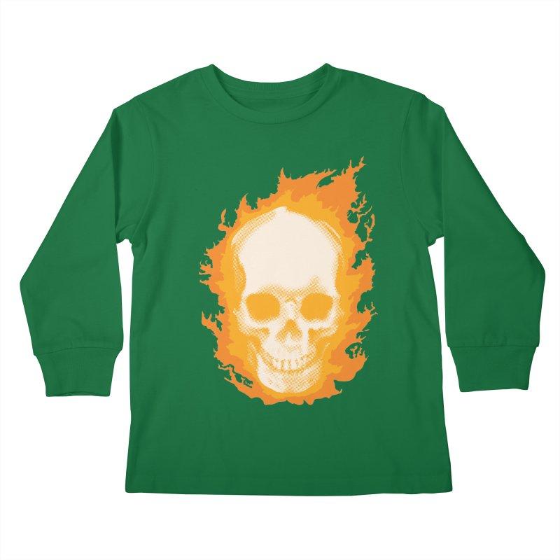 Ghost Skull Kids Longsleeve T-Shirt by carlhuber's Artist Shop