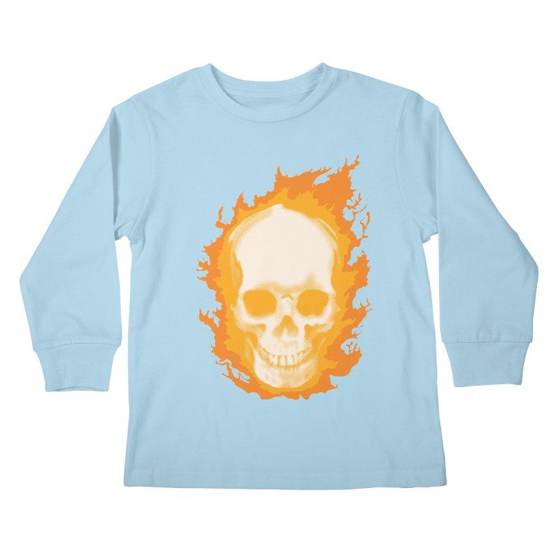 Ghost Skull Kids Longsleeve T-Shirt by Carl Huber's Artist Shop