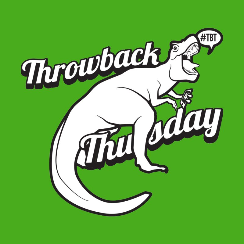 Throwback Thursday T-Rex Women's V-Neck by carlhuber's Artist Shop