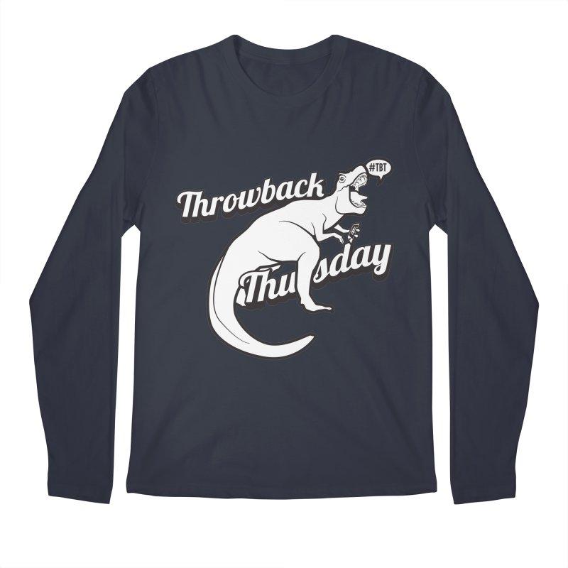 Throwback Thursday T-Rex Men's Longsleeve T-Shirt by carlhuber's Artist Shop