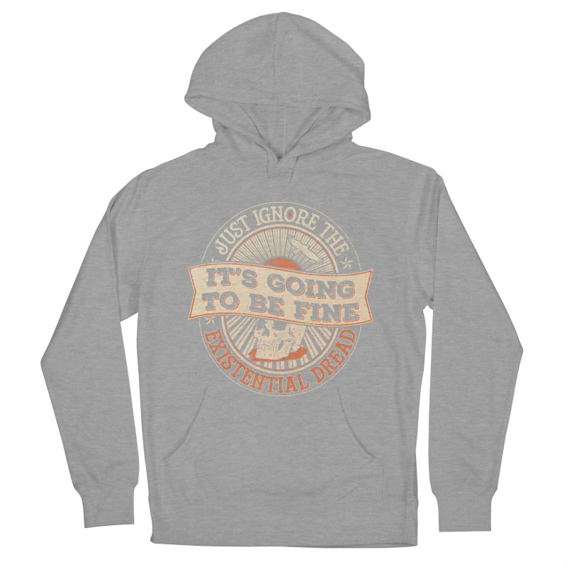 Existential Dread Skull Women's Pullover Hoody by carlhuber's Artist Shop