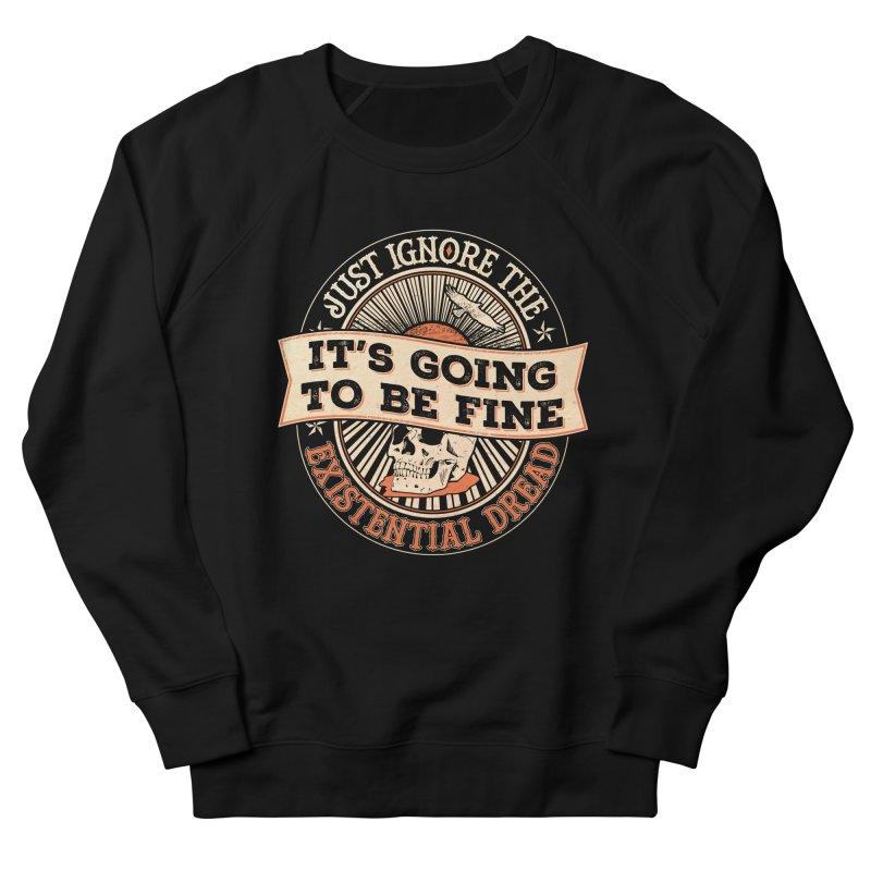 Existential Dread Skull Women's Sweatshirt by carlhuber's Artist Shop