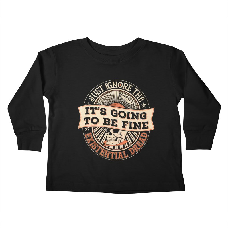 Existential Dread Skull Kids Toddler Longsleeve T-Shirt by carlhuber's Artist Shop