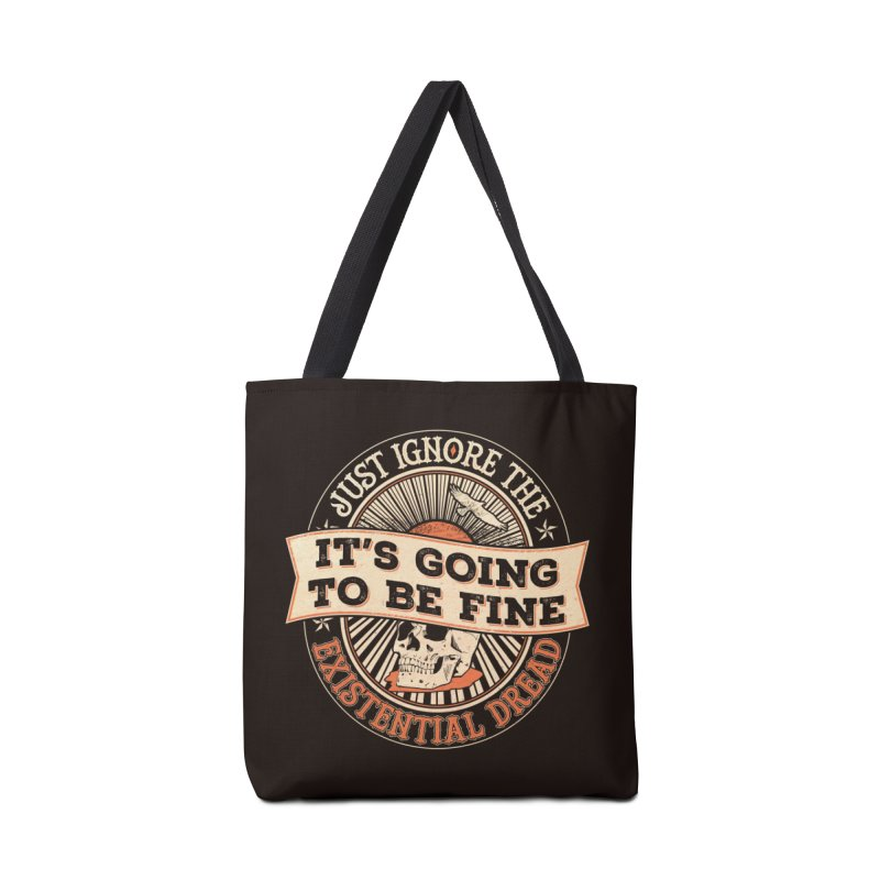 Existential Dread Skull Accessories Bag by carlhuber's Artist Shop