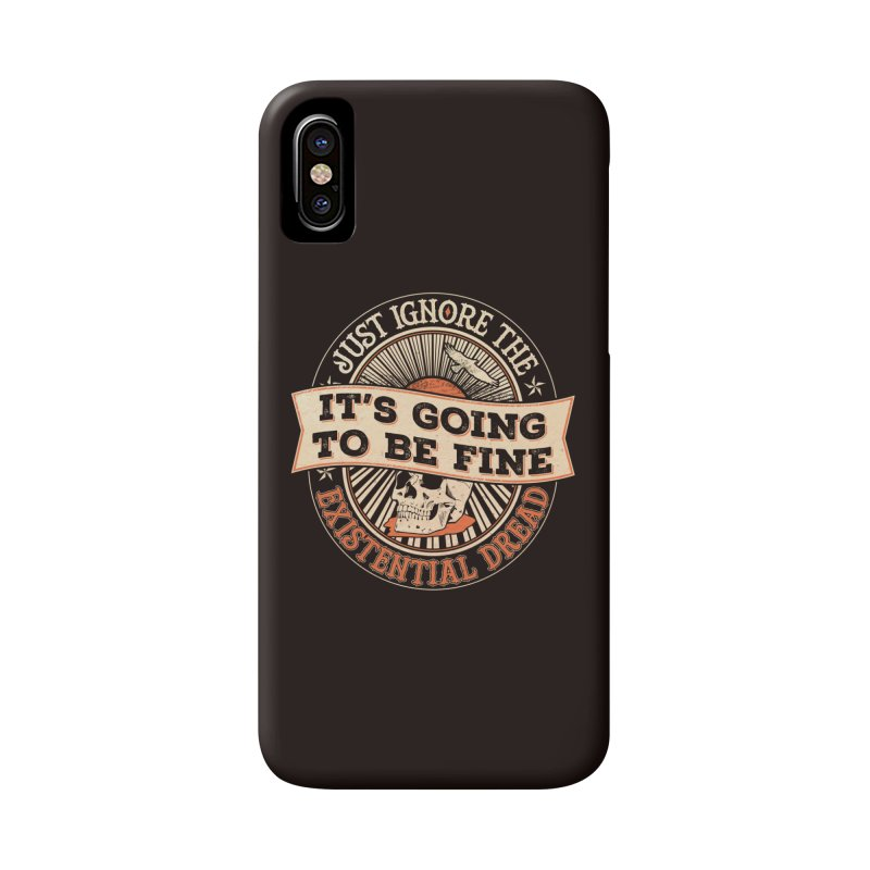 Existential Dread Skull Accessories Phone Case by carlhuber's Artist Shop
