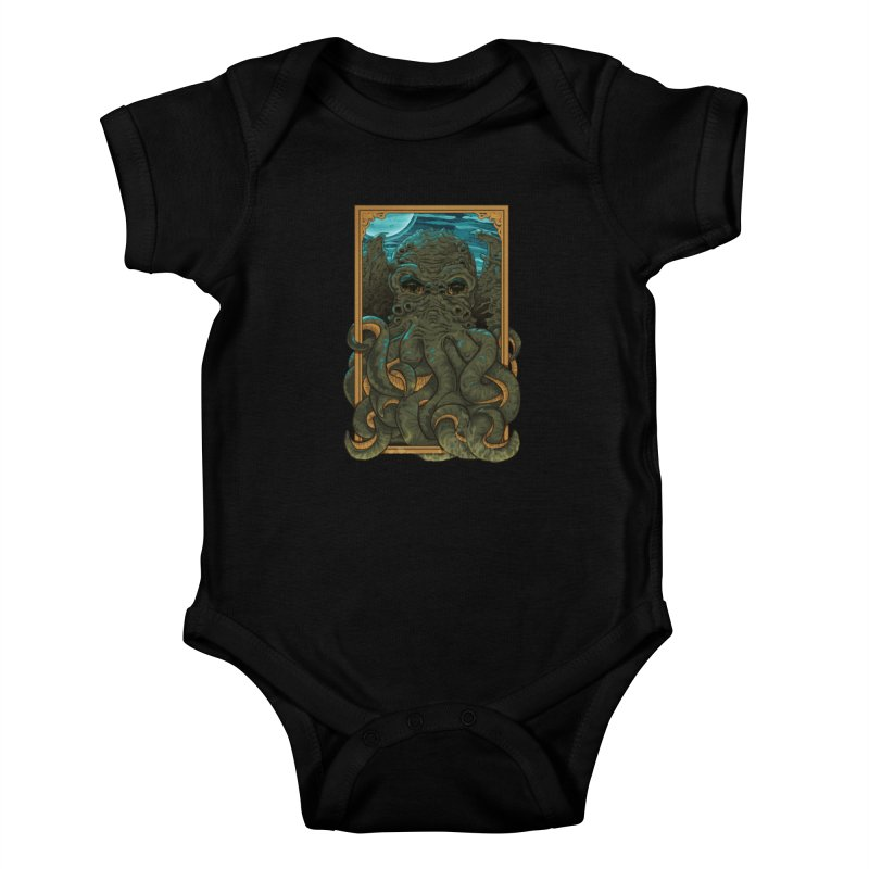 Answer the Call of Cthulhu Kids Baby Bodysuit by carlhuber's Artist Shop