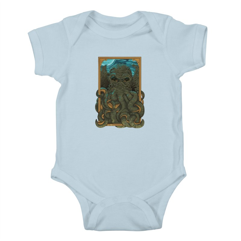Answer the Call of Cthulhu Kids Baby Bodysuit by Carl Huber's Artist Shop