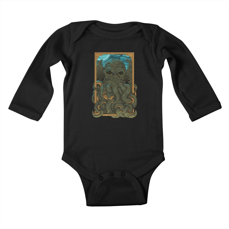 Answer the Call of Cthulhu Kids Baby Longsleeve Bodysuit by carlhuber's Artist Shop