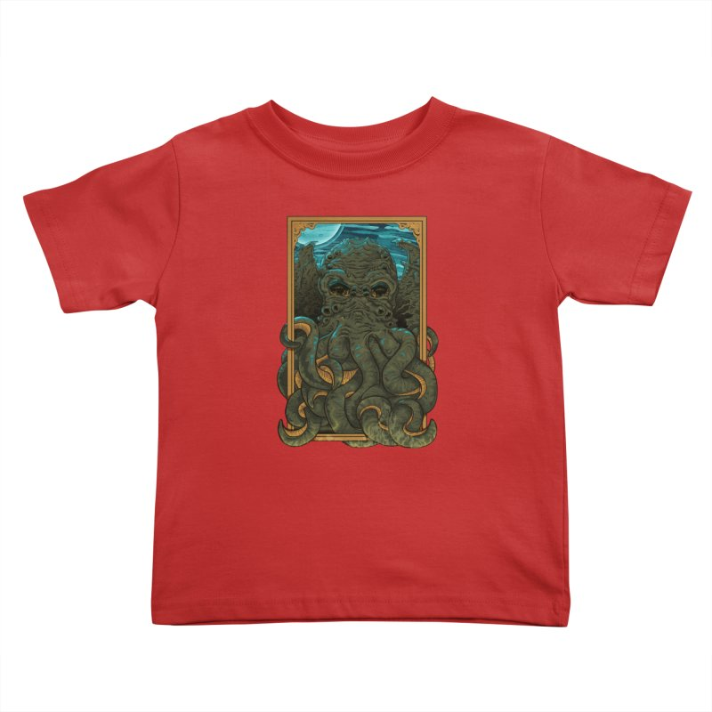 Answer the Call of Cthulhu Kids Toddler T-Shirt by carlhuber's Artist Shop