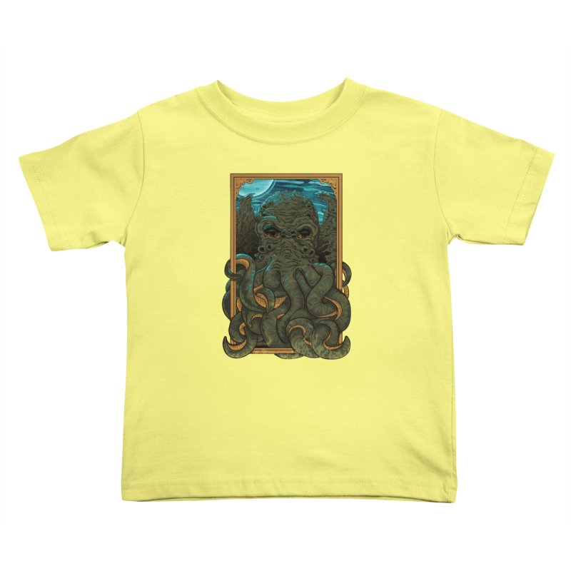 Answer the Call of Cthulhu Kids Toddler T-Shirt by Carl Huber's Artist Shop