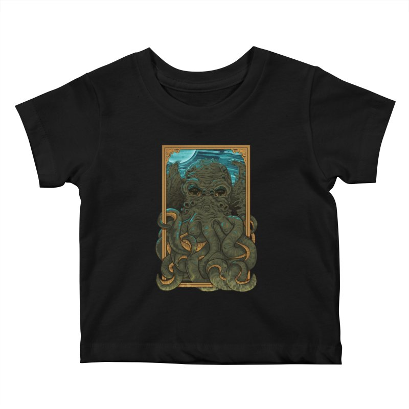 Answer the Call of Cthulhu Kids Baby T-Shirt by Carl Huber's Artist Shop