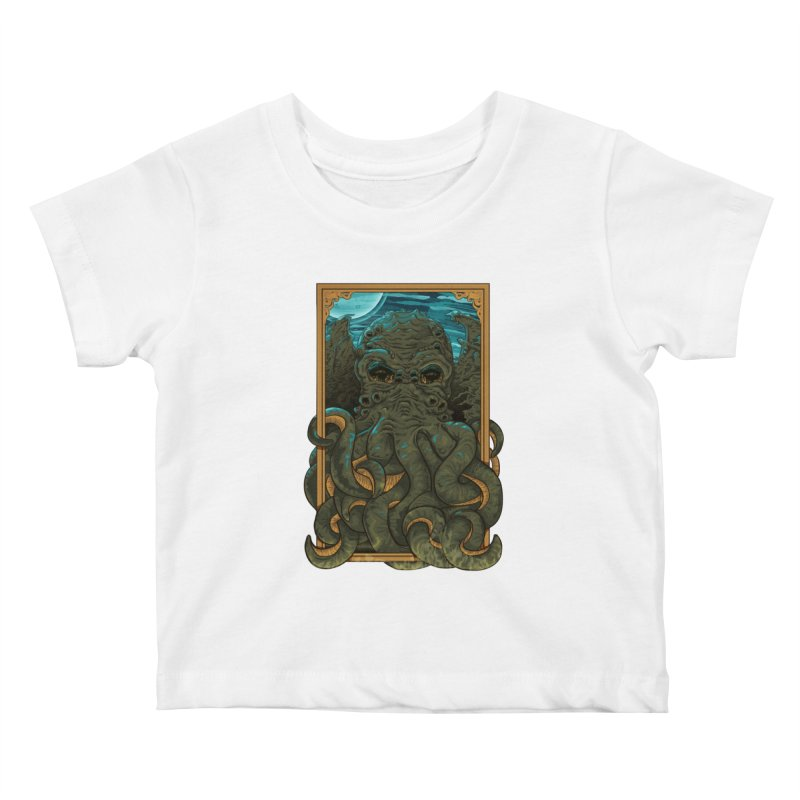 Answer the Call of Cthulhu Kids Baby T-Shirt by carlhuber's Artist Shop