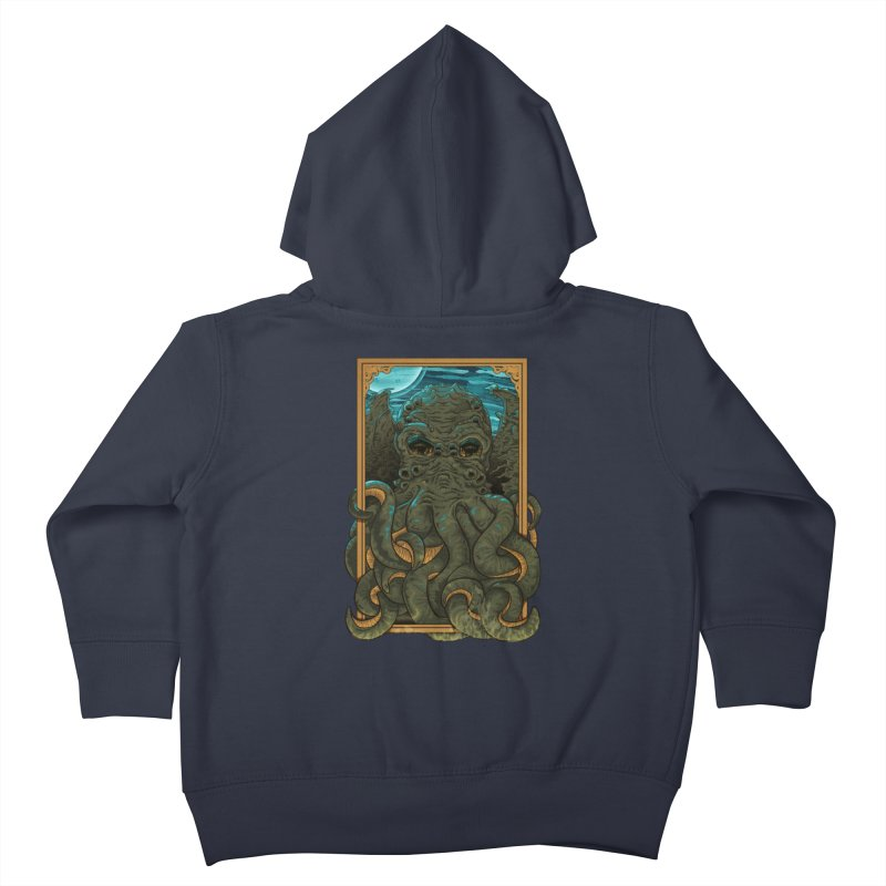 Answer the Call of Cthulhu Kids Toddler Zip-Up Hoody by Carl Huber's Artist Shop