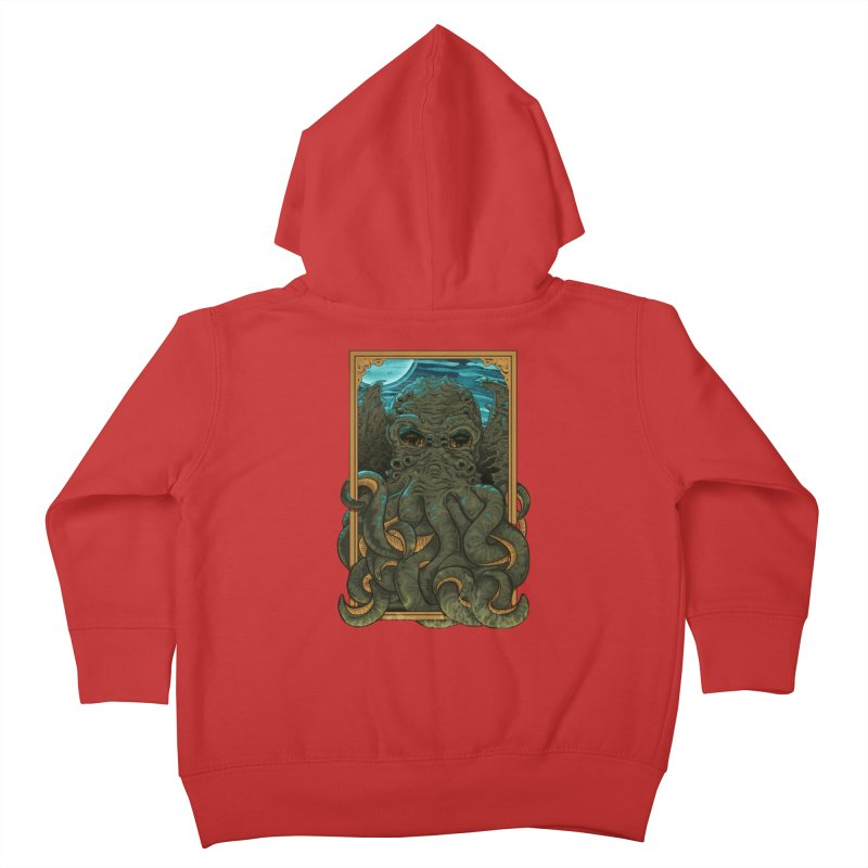 Answer the Call of Cthulhu Kids Toddler Zip-Up Hoody by carlhuber's Artist Shop