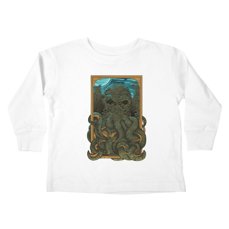 Answer the Call of Cthulhu Kids Toddler Longsleeve T-Shirt by Carl Huber's Artist Shop