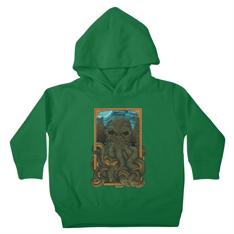 Answer the Call of Cthulhu Kids Toddler Pullover Hoody by Carl Huber's Artist Shop