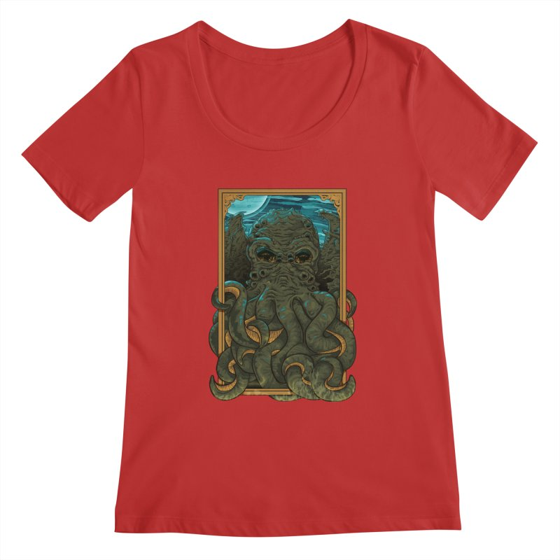Answer the Call of Cthulhu Women's Scoopneck by carlhuber's Artist Shop