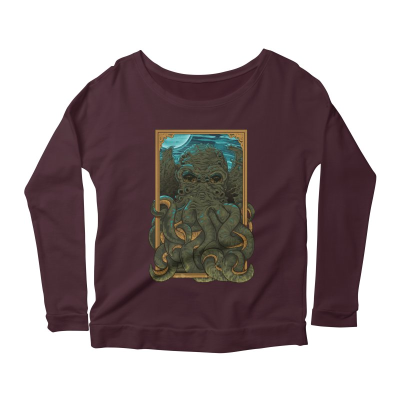 Answer the Call of Cthulhu Women's Longsleeve Scoopneck  by carlhuber's Artist Shop