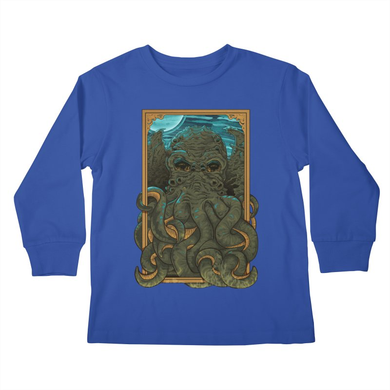 Answer the Call of Cthulhu Kids Longsleeve T-Shirt by Carl Huber's Artist Shop
