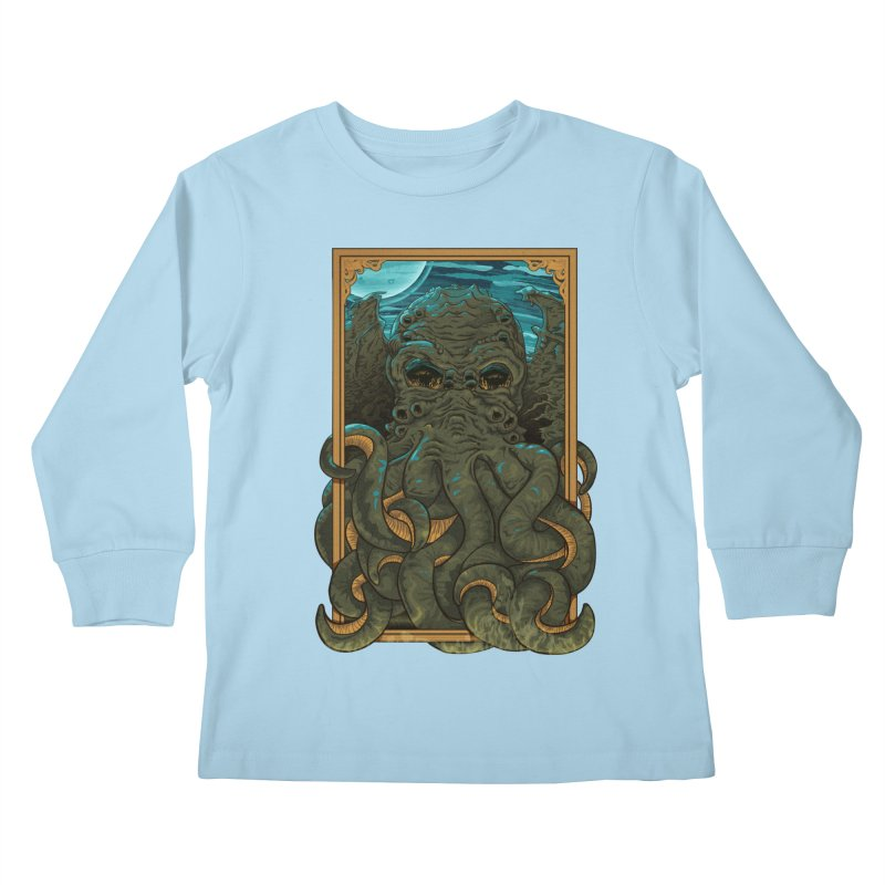 Answer the Call of Cthulhu Kids Longsleeve T-Shirt by carlhuber's Artist Shop
