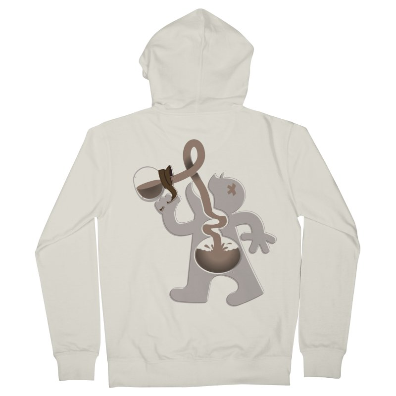 Coffee Man Men's French Terry Zip-Up Hoody by Carl Huber's Artist Shop
