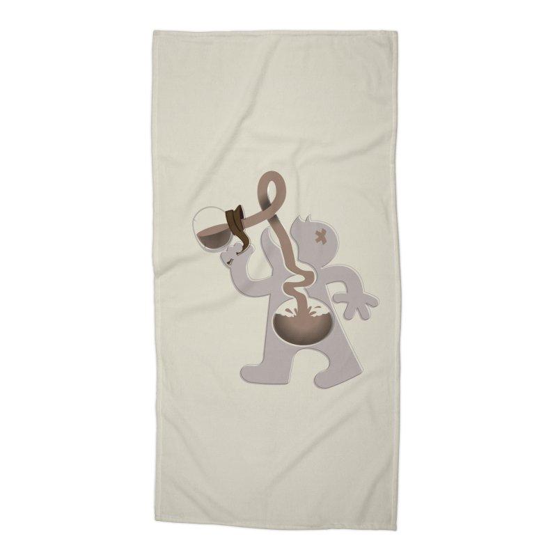 Coffee Man Accessories Beach Towel by Carl Huber's Artist Shop