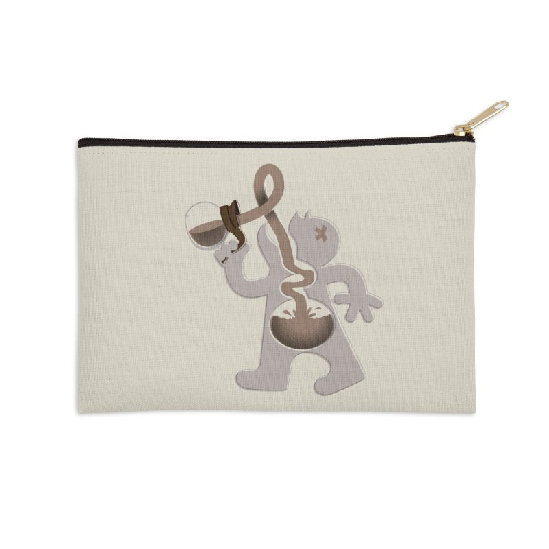 Coffee Man Accessories Zip Pouch by Carl Huber's Artist Shop