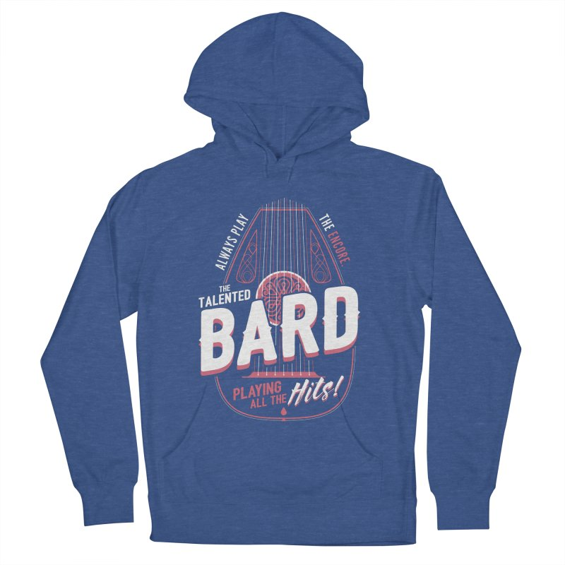 D&D Bard Men's French Terry Pullover Hoody by carlhuber's Artist Shop