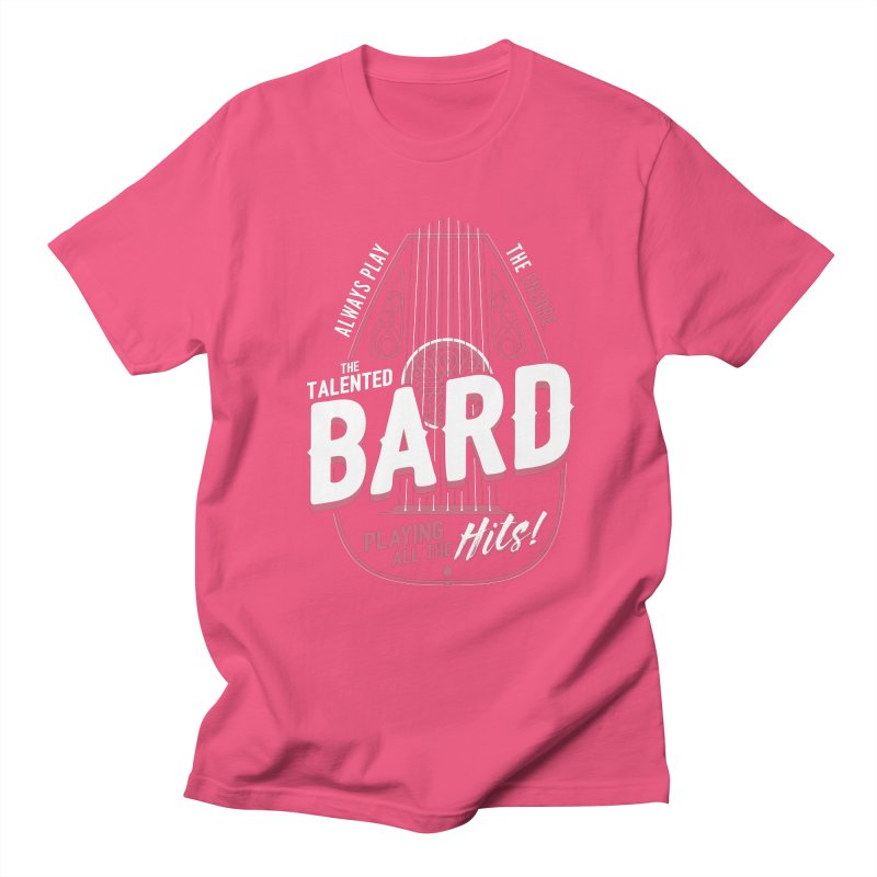 D&D Bard Men's Regular T-Shirt by carlhuber's Artist Shop