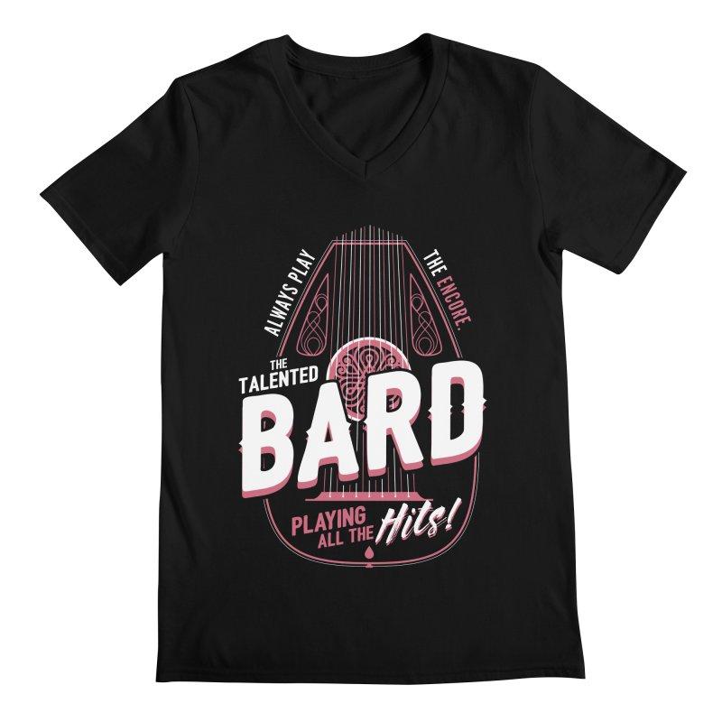 D&D Bard Men's V-Neck by carlhuber's Artist Shop