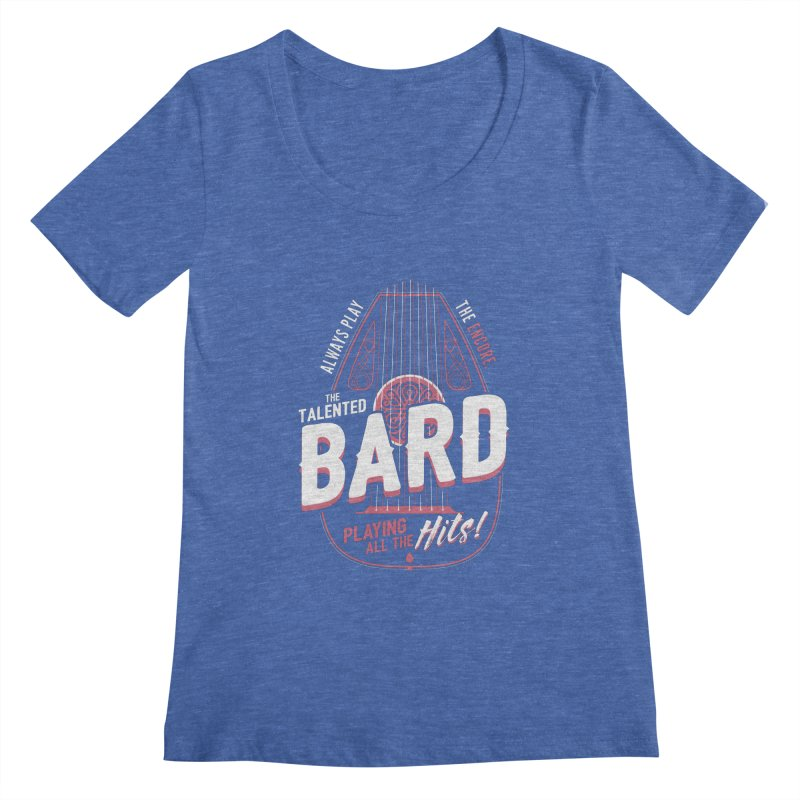 D&D Bard Women's Regular Scoop Neck by carlhuber's Artist Shop