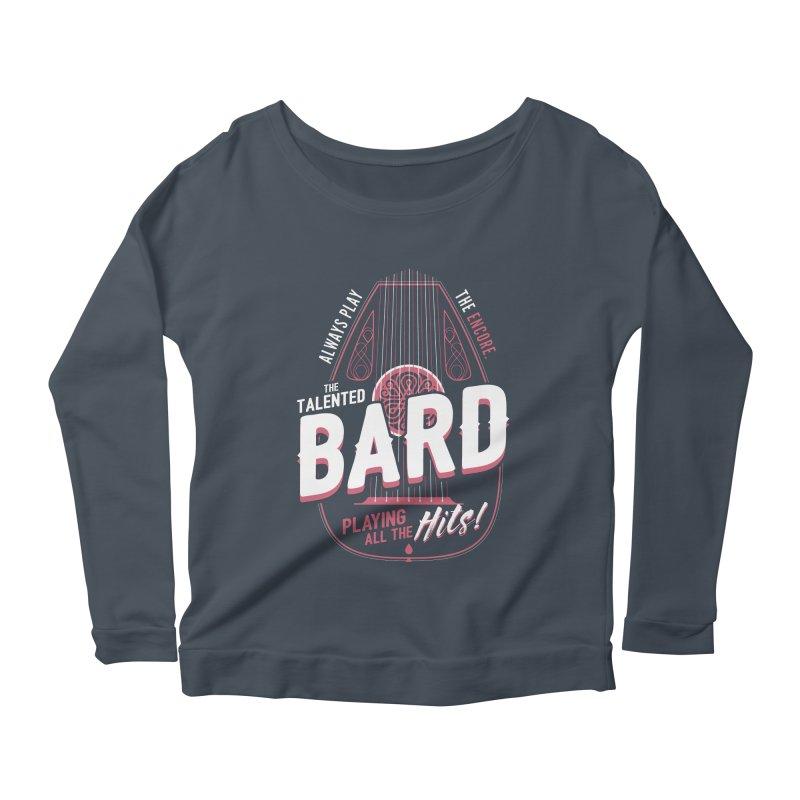 D&D Bard Women's Scoop Neck Longsleeve T-Shirt by carlhuber's Artist Shop