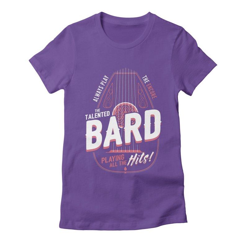 D&D Bard Women's Fitted T-Shirt by carlhuber's Artist Shop