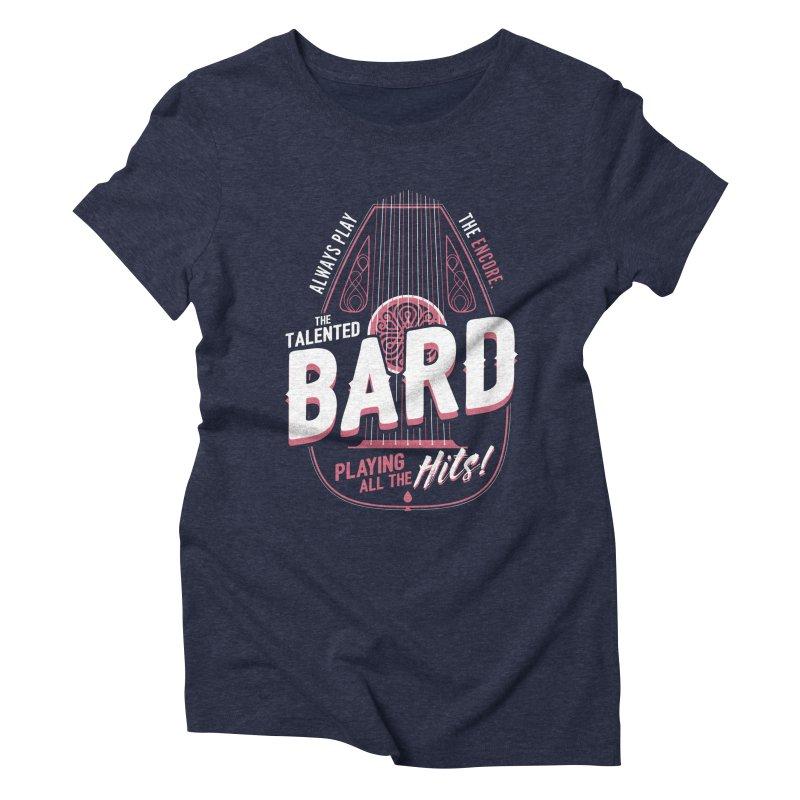 D&D Bard Women's Triblend T-Shirt by carlhuber's Artist Shop