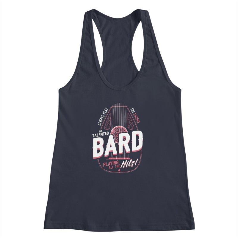 D&D Bard Women's Racerback Tank by carlhuber's Artist Shop