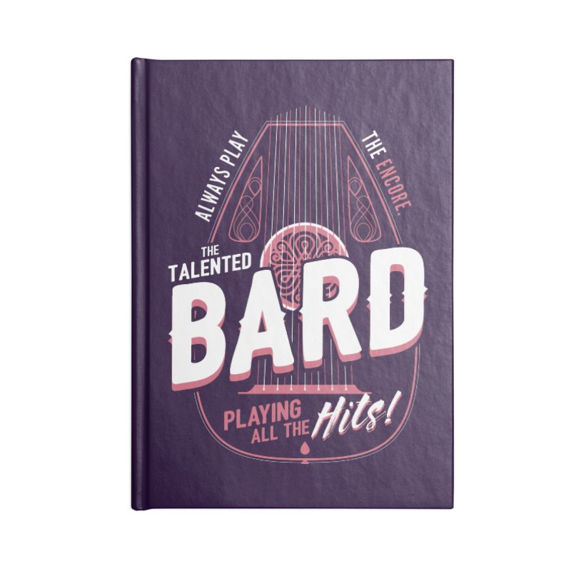 D&D Bard Accessories Notebook by carlhuber's Artist Shop