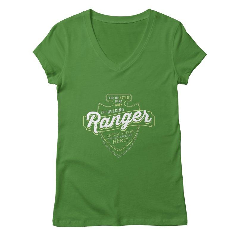 D&D Ranger Women's Regular V-Neck by carlhuber's Artist Shop