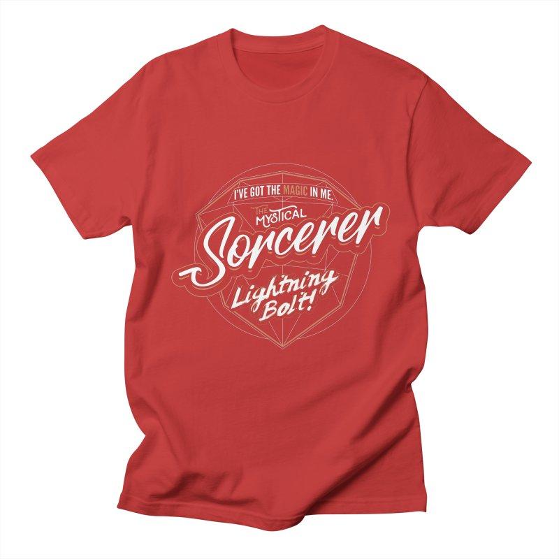 D&D Sorcerer Men's T-Shirt by Carl Huber's Artist Shop