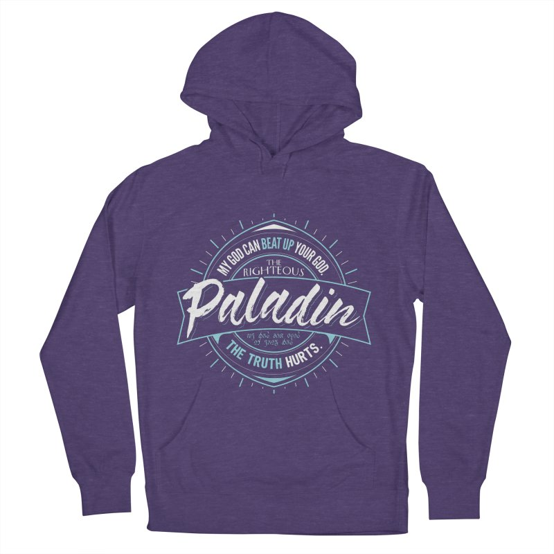 D&D Paladin Men's French Terry Pullover Hoody by Carl Huber's Artist Shop