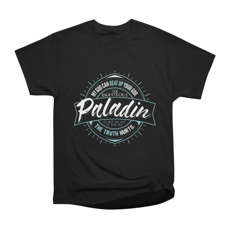 D&D Paladin Men's Heavyweight T-Shirt by Carl Huber's Artist Shop