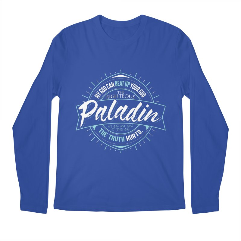 D&D Paladin Men's Regular Longsleeve T-Shirt by Carl Huber's Artist Shop