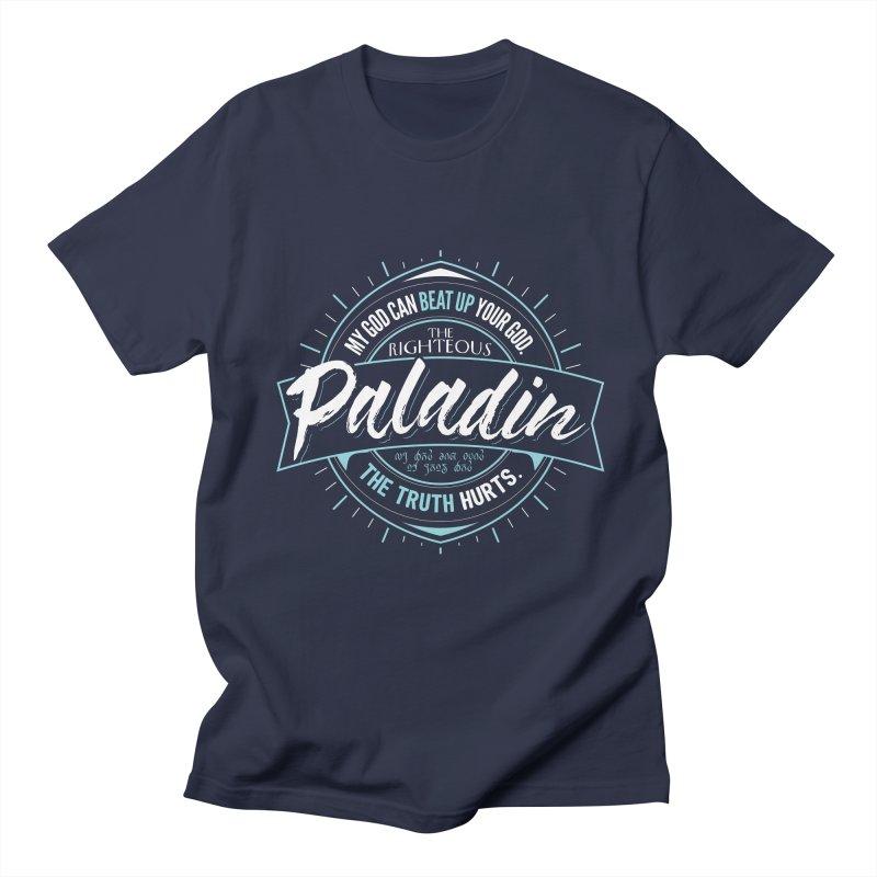 D&D Paladin Men's Regular T-Shirt by Carl Huber's Artist Shop