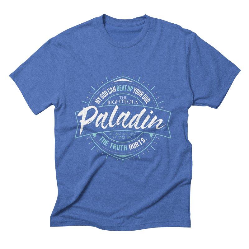 D&D Paladin Men's Triblend T-Shirt by Carl Huber's Artist Shop