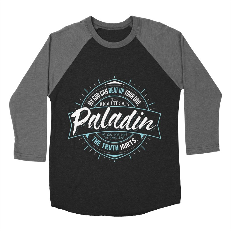 D&D Paladin Men's Baseball Triblend Longsleeve T-Shirt by Carl Huber's Artist Shop