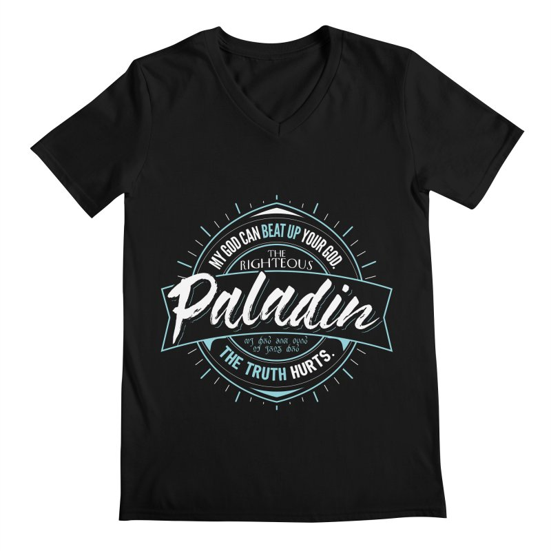 D&D Paladin Men's V-Neck by carlhuber's Artist Shop