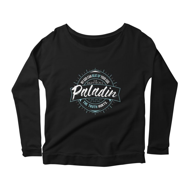 D&D Paladin Women's Scoop Neck Longsleeve T-Shirt by carlhuber's Artist Shop